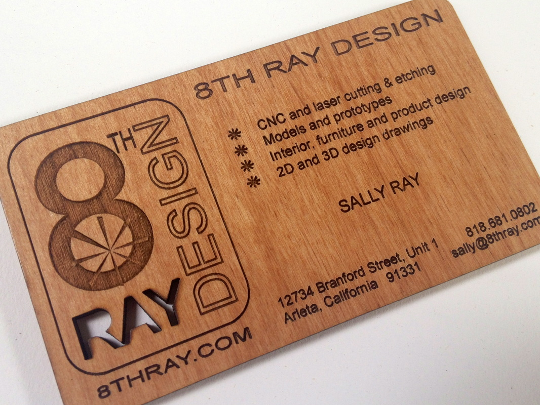 wood cut and engraved buisness cards magnets